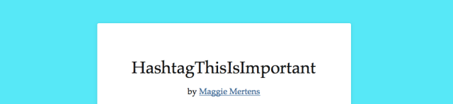 HashtagThisIsImportant