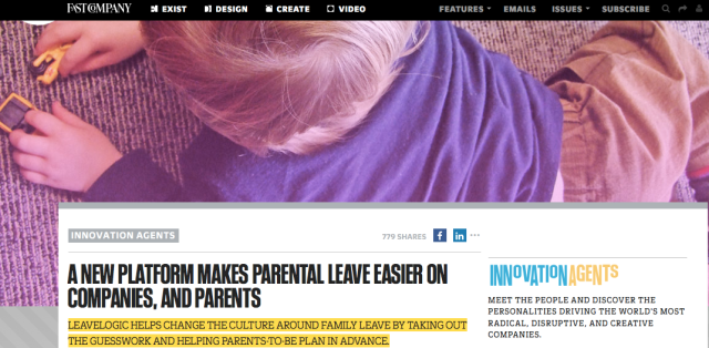 Fast Company: A New Platform Makes Parental Leave Easier on Companies, And Parents